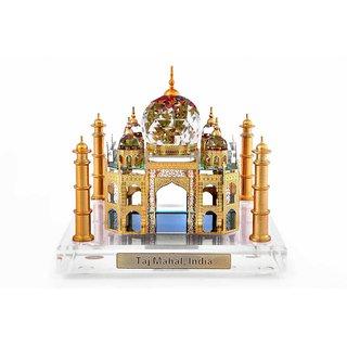 Crystal 24 Karat Gold Plated Taj Mahal Home Decorative Souvenir Gift