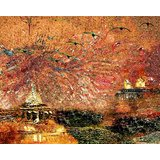 Affordable Art India Nature Abstract Canvas Art AEAT14b