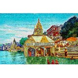 Affordable Art India Religious Abstract Canvas Art AEAT15b
