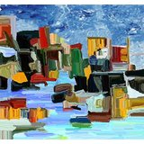 Affordable Art India Nature Abstract Canvas Art AEAT17b