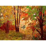 Affordable Art India Nature Abstract Canvas Art AEAT21a