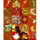 Affordable Art India Culture Symbol Abstract Canvas Art AEAT5c