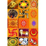 Affordable Art India Religious Symbols Abstract Canvas Art AEAT6a