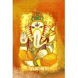 Affordable Art India Canvas Art Of Lord Ganesha AELG5c