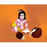 Affordable Art India Canvas Art Of Lord Krishna AELK2b