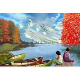 Affordable Art India Scenery Canvas Art AELS1a