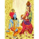 Affordable Art India Canvas Art Of Lord Krishna Canvas Art AERK1c