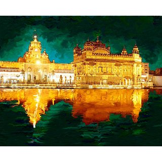 Affordable Art India Canvas Art Of Golden Temple Canvas Painting AEGT2a