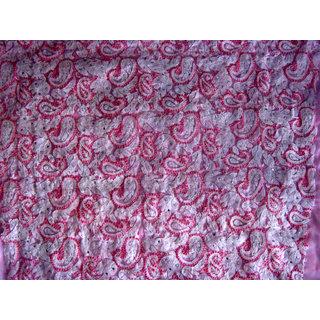Pink Chikan Suit (Semi Georgette)