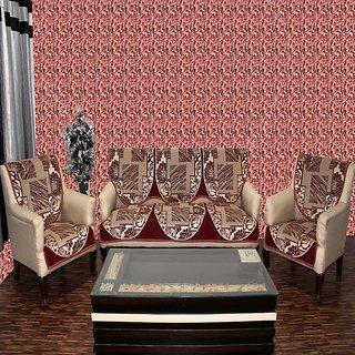 Chenille sofa cover sitara maroon 02