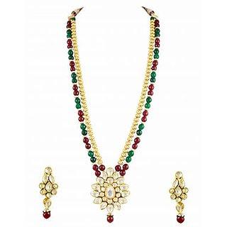 Style Long Kundan Necklace Set