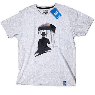 woxx Rain Umbrella Night Men Gray Tee