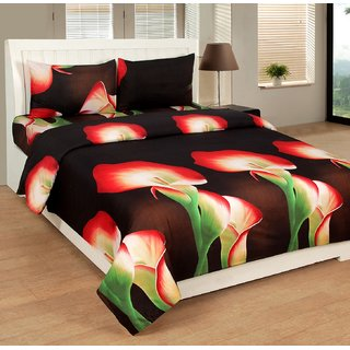 COTTON DOUBLE BEDSHEET WITH 2 PILLOW COVER (N-B-27)