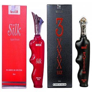 Mayur 3XXX 60ml and Silk 60ml Perfume combo