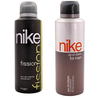 Nike Fission and Up or down Deodorants for Men 200ml Each (Pack of 2)