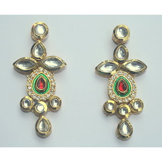 Ethnic Ada Traditional Kundan Earrings