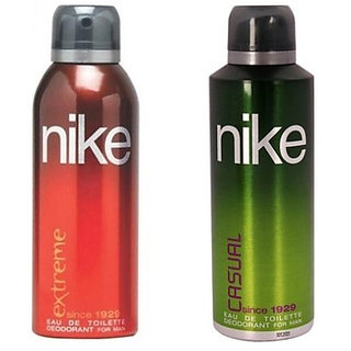 Nike Extreme and Casual Deodorants for Men 200ml Each (Pack of 2)