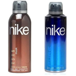 Nike Urban Musk and Pure Deodorants for Men 200ml Each (Pack of 2)