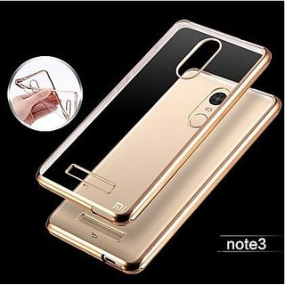REDMI NOTE 3 Ultra-thin Crome Luxury Golden Chrome Electroplating Soft Back Cover - By Cellwallpro Brand