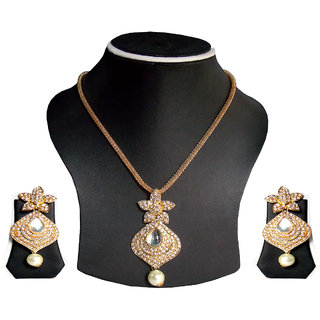 simbright white gold bud necklace set
