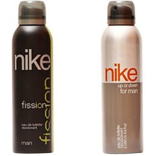 Nike Deodorants Fission and Up or down for Men 200ml Each (Pack of 2)