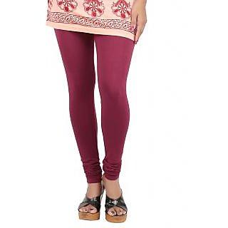Color Candy Women's Maroon Color Leggings