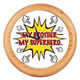 Printed Rounded Wooden wall clocks Asns Online Services - MY BROTHER MY SUPERHERO