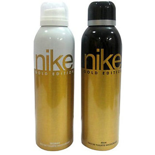 Nike Deodorants Gold Edition for Men Women 200ml Each (Pack of 2)