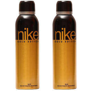 Nike Deodorants 2 Gold Edition Deodorant for Men 200ml Each (Pack of 2)
