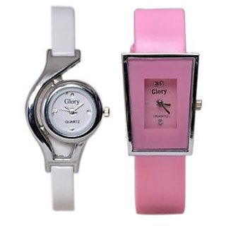 High Quality Style Glory Combo of 2 Analog Casual Wear Wrist Watches For Women / Girl