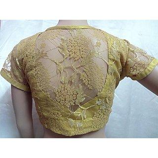 Designer Bridal Cream n golden Blouse / Choli Princess cut Size 36'