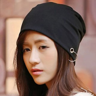 Fashion Unisex Hedging Cloth Hip-hop Hats  Spring Autumn Thin Men Cap with Ring Casual Beanie