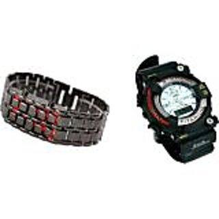 TRUE COLORS HOT COMBO OF MTG G-SHOCK SAMURAI LED AVANGER Analog-Digital Watch - For Boys, Men, Girls, Couple