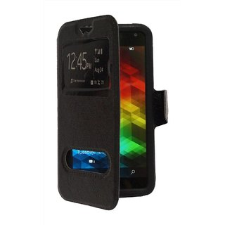 Universal Black Flip Cover / Case for Asus Zenfone 5 by GEOCELL