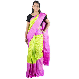 Sri Light Green  Pink Silk