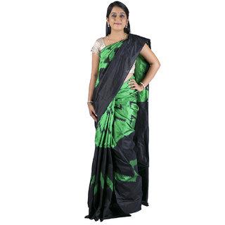 Sri Green  Black Silk