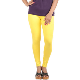 Color Candy Women's Yellow Color Ankle Leggings