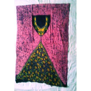 Kanthha Stitch - Batik Print Pink Kurti/Top Piece