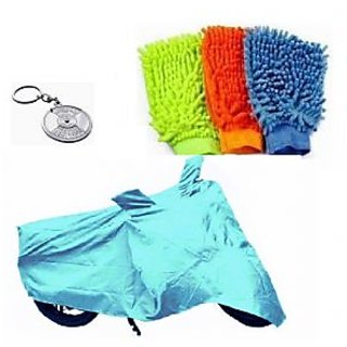 Sai Trading Body cover Custom made for Bajaj Discover 100 ST+ Free (Key Chain + Microfiber Gloves) Worth Rs 250