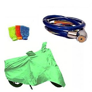 Sai Trading Body cover Perfect fit for Suzuki Swish 125+ Free (Helmet Lock + Microfiber Gloves) Worth Rs 250