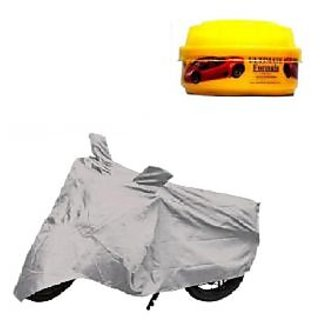 Bull Rider Bike Body Cover With Mirror Pocket For Suzuki Gixxer Sf (Colour Silver) + Free Wax Shine Polish Worth Rs 100/