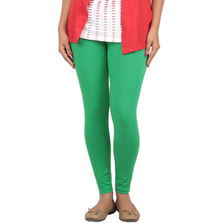 Color Candy Women's Green Color Ankle  Leggings
