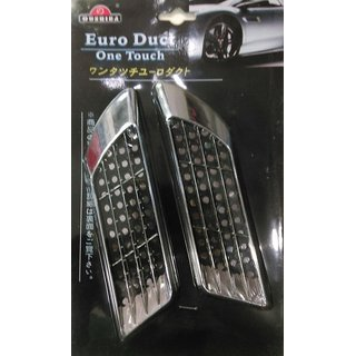 Car Decorative Accessories Exterior Euro Duct one touch Side Vent Air Flow Fender Mesh
