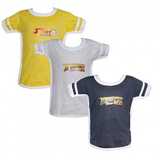 JF Boys Combo of 3 Assorted Half Sleeve Tshirt