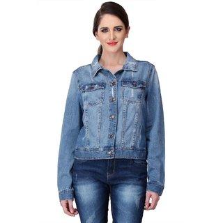 KOTTY Ripped  Blue Washed Denim Jackets