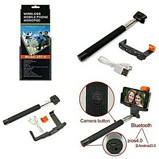 Wireless Bluetooth  Mobile Phone Monopod Model - (Z07-5) - Assorted Colours