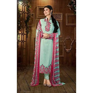 093ae51bf90 Buy Sky Blue Embroidered Dress Material Suit with Matching Dupatta Online    ₹1800 from ShopClues