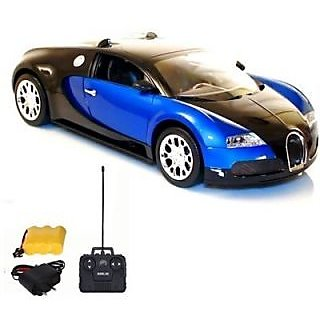 bugatti veyron rechargeable remote control car black blue. Black Bedroom Furniture Sets. Home Design Ideas