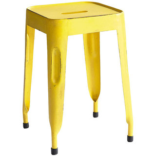 Metal Yellow Colour Stool
