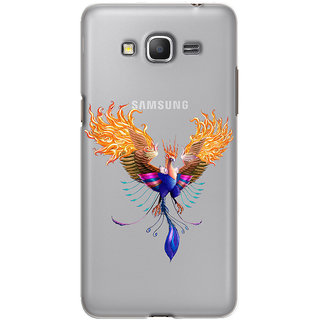 Snooky Printed transparent Silicone Back Case Cover For samsung galaxy core prime